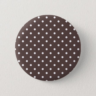 Badge Bouton de point de polka de chocolat