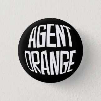 "Badge Bouton de punk de logo d'Agent Orange ""Fisheye"""