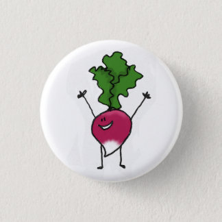 Badge Bouton de radis