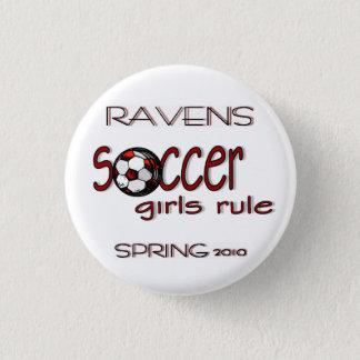 Badge Bouton de règle de filles du football
