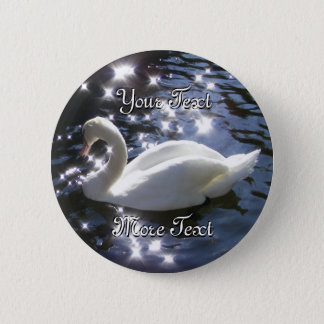 Badge Bouton de scintillement de cygne