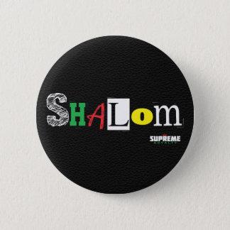 Badge Bouton de Shalom (noir/tri)