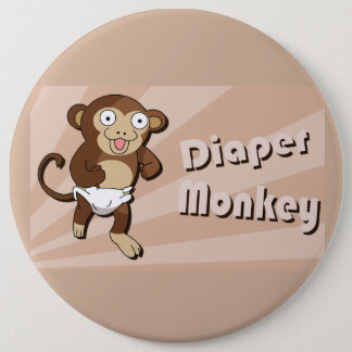 Badge Bouton de singe de couche-culotte
