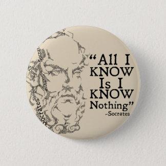 Badge Bouton de Socrates Sketicism