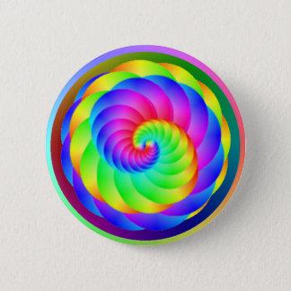 Badge Bouton de spirale de roue de couleur