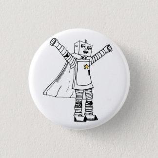 Badge Bouton de super héros de robot d'étoile