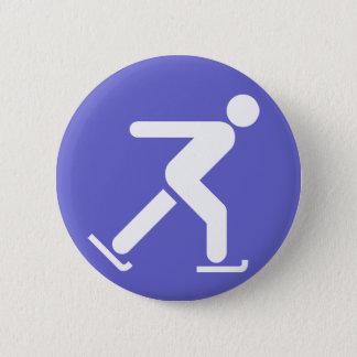 Badge Bouton de symbole de patinage de glace