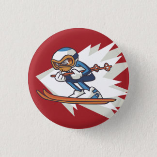 Badge Bouton de talent de ski alpin de sports d'hiver