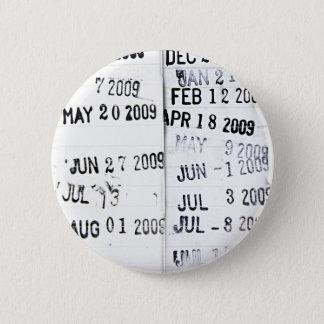 Badge Bouton de tampon-date de bibliothèque