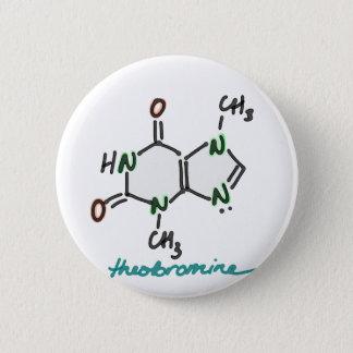 Badge Bouton de théobromine (alcaloïde de chocolat) -