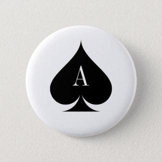 Badge Bouton de tisonnier d'as de pique