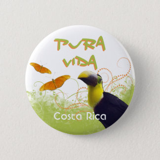 Badge Bouton de toucan de Rican Pura Vida de côte