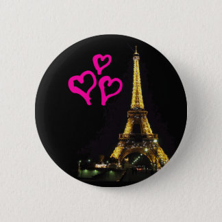 Badge Bouton de Tour Eiffel