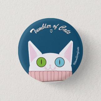 Badge Bouton de TumblerofCats - TumblerCat blanc