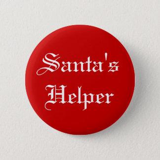 Badge Bouton de vacances de Noël de l'aide de Père Noël