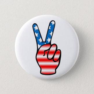 Badge Bouton de victoire (rouge, blanc et bleu)