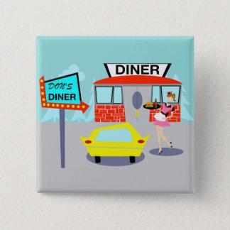 Badge bouton de wagon-restaurant des années 1950