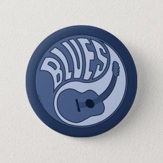 Badge Bouton de Yin de guitare de bleus