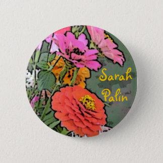 Badge Bouton de Zinnia de Sarah Palin