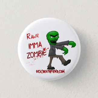 Badge Bouton de zombi d'Imma