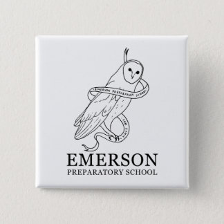 Badge Bouton d'Emerson (hibou)