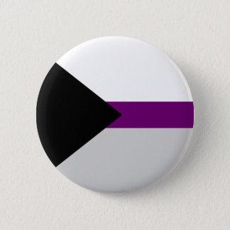 Badge bouton Demi-sexuel de drapeau