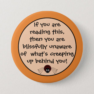 Badge Bouton déplaisant d'araignée de Halloween