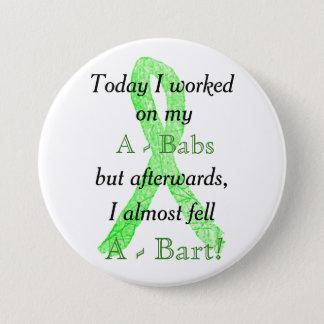 Badge Bouton d'humour de la maladie de Lyme