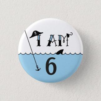 Badge Bouton d'insigne d'âge d'anniversaire de pirate