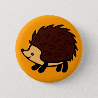 Badge Bouton d'orange de forêt de hérisson