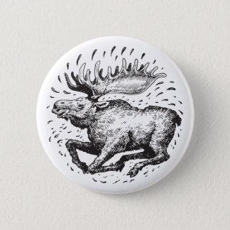 Badge Bouton d'orignaux