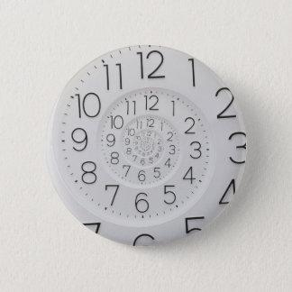 Badge Bouton en spirale de Droste d'horloge