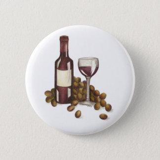 Badge Bouton en verre merlot de raisins d'échantillon de