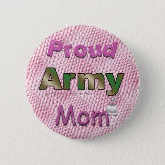 Badge Bouton fier de maman d'armée
