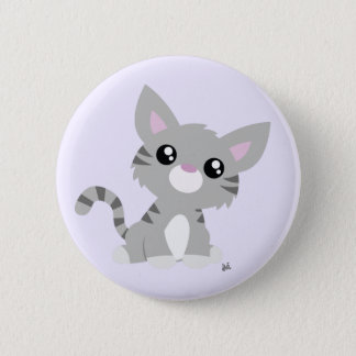 Badge Bouton gris mignon de Kitty