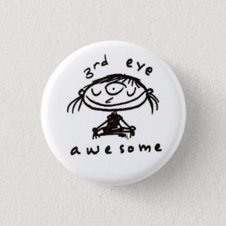 Badge bouton impressionnant de troisième oeil
