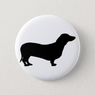 Badge Bouton/insigne de silhouette de chien de teckel