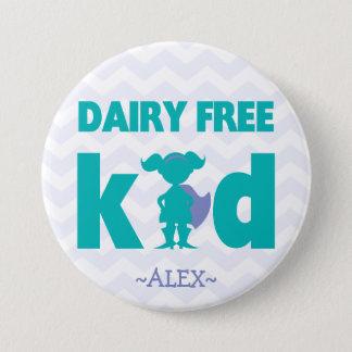 Badge Bouton libre de fille de super héros de laiterie