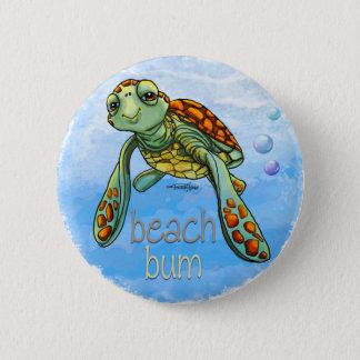 Badge Bouton mignon de tortue de mer