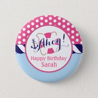 Badge Bouton nautique d'anniversaire
