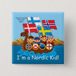 Badge Bouton nordique 2017 d'enfant