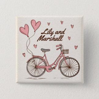 Badge Bouton personnalisé de Pin de coeurs de bicyclette