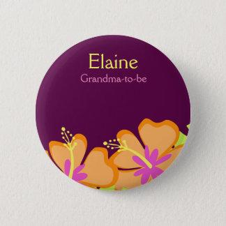 Badge Bouton personnalisé par ÉTIQUETTE de NOM de FLEUR