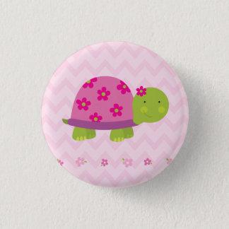 Badge Bouton personnalisé par tortue mignonne pour des