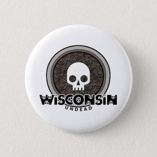 Badge Bouton punk mignon du Wisconsin de crâne