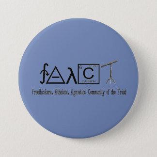 "Badge Bouton rond 3"" de groupe athée de FAACT"