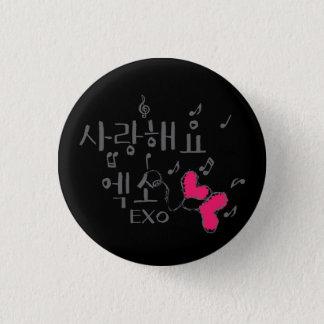 Badge bouton rond de kpop d'exo de haeyo de sarang