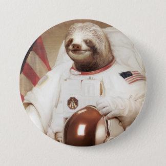 Badge Bouton rond de paresse d'astronaute