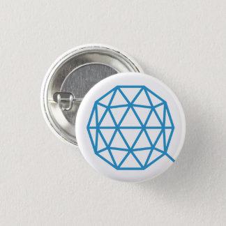 Badge Bouton rond de QTUM (blanc)