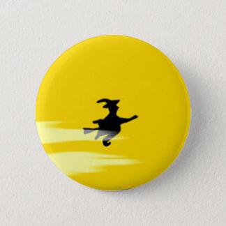 Badge Bouton rond de sorcière de Halloween